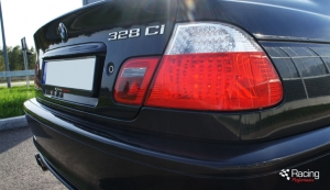 BMW E46 328i turbo rear view