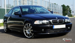 BMW E46 328i turbo front view
