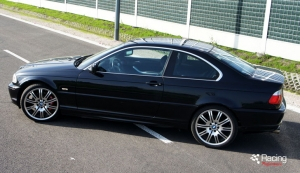 BMW E46 328i turbo top side view